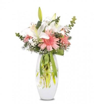 Pembe Beyaz Çiçekler