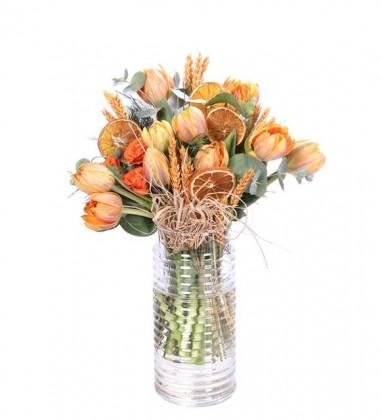 Sıcak Sevgi Lale Çiçekleri