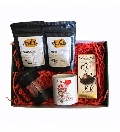 Nitelikli Dünya Kahveleri Sevgiliye Hediye Kutusu