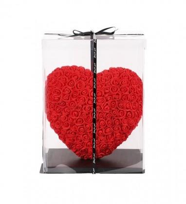 Kalpli Solmayan Yapay Gül 40 cm Heart Rose