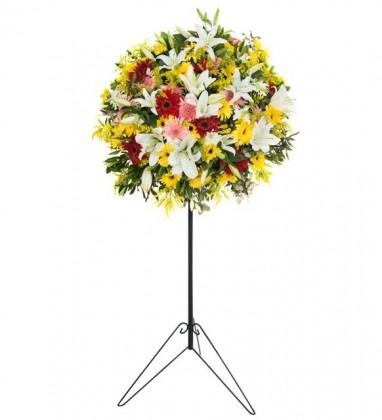 Renkli Çiçek Ferforje